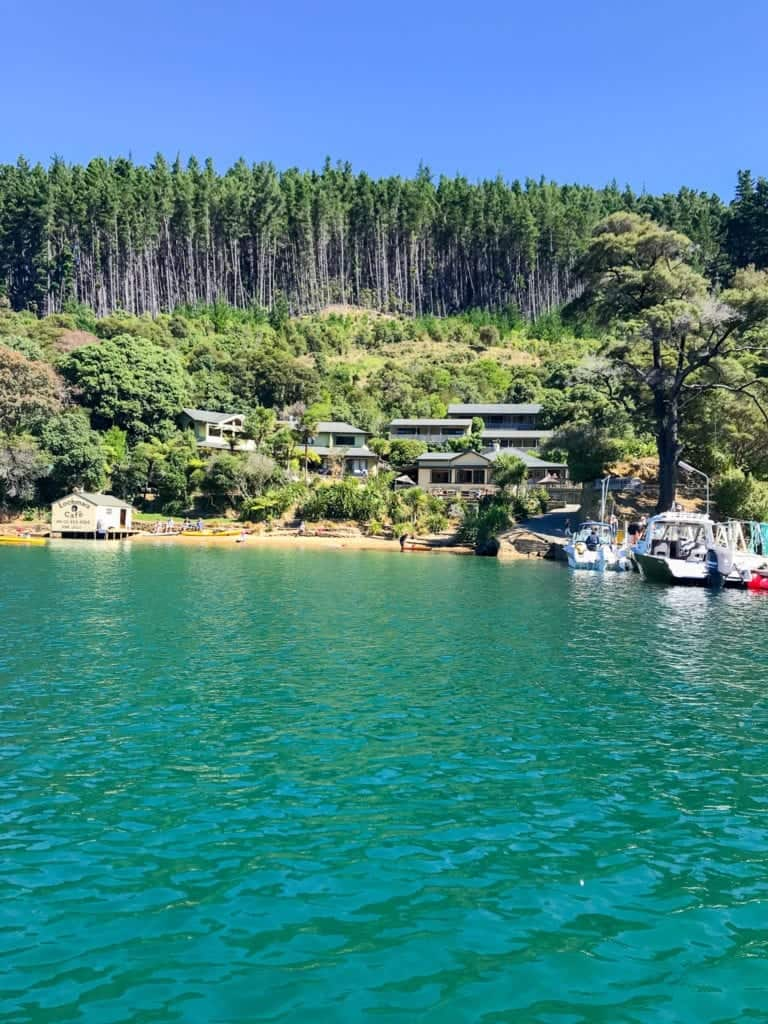 A photo of Lochmara Lodge one of my favourite accommodation in marlborough sounds