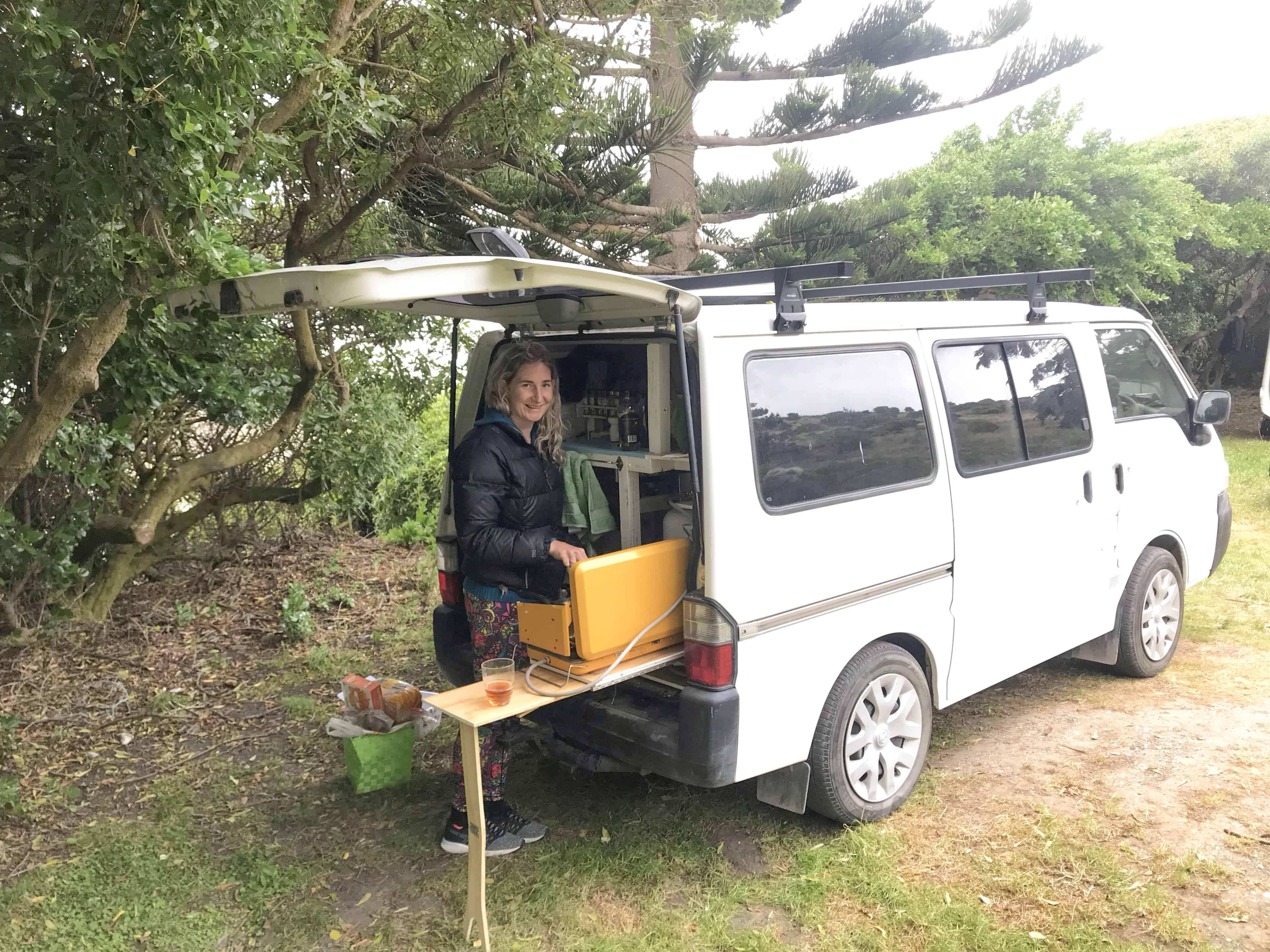 cooking in van